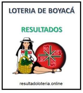 LOTERIA DE BOYACA 16 DE OCTUBRE - ULTIMO SORTEO