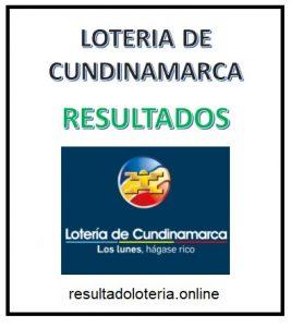 LOTERIA CUNDINAMARCA 11 DE OCTUBRE RESULTADOS