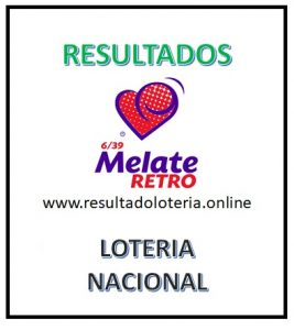RESULTADOS MELATE RETRO 1109